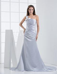 #Milanoo.com Ltd          #Wedding Dresses          #Silver #One-Shoulder #Sheath #Satin #Wedding #Dress                          Silver One-Shoulder Sheath Satin Wedding Dress                                http://www.seapai.com/product.aspx?PID=5680395