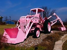 Pink construction tractor!