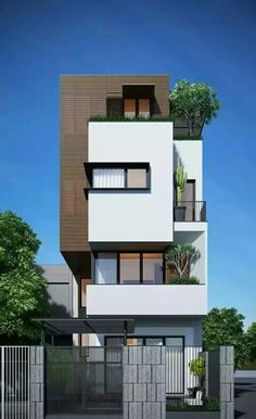 29 Best Modern Dream House Exterior Designs You Will Amazed - Villa Design, Facade Design, Exterior Design, Facade Architecture, Residential Architecture, Contemporary Architecture, Contemporary Design, Arch House, Facade House