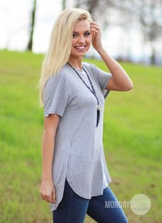 Aim High Tunic In Gray | Monday Dress Boutique