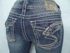 SILVER JEANS Cheap BUCKLE Sale Flap Suki Surplus Flap Bootcut Jean 27,28,30 #SilverJeans #BootCut