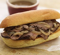 Quick and easy, this tender roast beef sandwich, complete with dipping sauce, is ideal for casual entertaining.