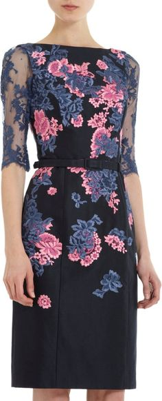 #fashion #dress #lace #pink #blue #black