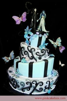 Tim Burton's Corpse Bride themed wedding cake, brilliant! ~Halloween ~CorpseBride