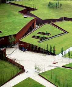 wenchuan earthquake memorial museum in china china's wenchuan earthquake memorial museum conceived as an architectural landscape Architecture Memorial, Landscape Architecture Design, Green Architecture, Futuristic Architecture, Building Architecture, Texture Sol, Building Museum, In China, Memorial Museum