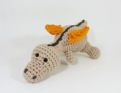 Cute organic amigurumi baby dragon crochet baby rattle by ByMarika #bymarika #etsy #rattle #toy #dragon #organic #eco #crochet