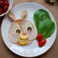 Use low-sodium cold cuts to make this funny bunny sandwich a nutritious (and super-cute) lunchtime option.