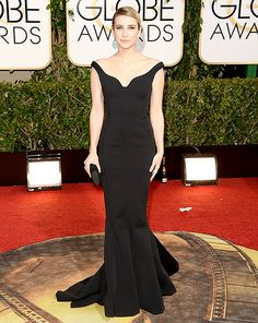 Emma Roberts is classy in Lanvin at the 2014 Golden Globes