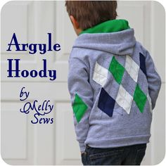 Sewing Tops Melly Sews: Argyle Hoody Tutorial Erickson when you have a baby boy someday I want to make this for him in UNC colors. Just remind me. - Argyle hoody tutorial - cute and preppy! Sewing For Kids, Baby Sewing, Diy For Kids, Sewing Hacks, Sewing Tutorials, Sewing Patterns, Sewing Projects, Diy Clothing, Sewing Clothes