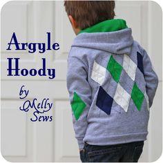 argyle hoodie