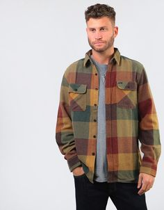 77497bad06ba Nike Mens SB Steele Lightweight Green Fern Camo Jacket 707034 302 - UK  Medium · Tim WhiteheadThreadz · The Brixton Bowery L S Flannel shirt in  Rust Copper ...
