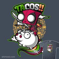 Gir dressed as Deadpool riding a piggie unicorn with tacos.  NNNNEEEEEEEDDDDDDD!!!!!!!!!!!!