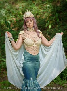 My finished mermaid queen costume! I'm calling her Amphitrite Photo by Bart Treuren