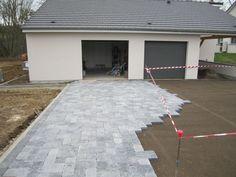 [Voie - allée - enrobée][] Trottoir ou chemin pavé - Moselle (57) - novembre 2012