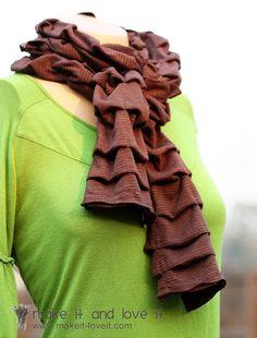 25 DIY No Knit Scarves