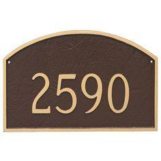 Montague Metal Products Prestige Arch One Line Address Plaque Finish: Antique Copper/Copper
