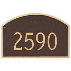 Montague Metal Products Prestige Arch One Line Address Plaque Finish: Chocolate/Silver
