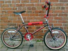 My first BMX in the 80s...a Raleigh Night Burner.