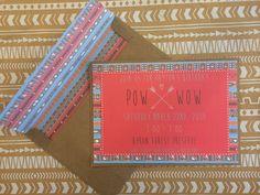 Custom Pow-Wow Party Invitations