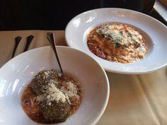 Photo of Marzano Italian Restaurant - Tacoma, WA, United States. Lasagne plus meatballs