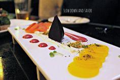 Love fine dining establishment Finn & Porter located inside the E. 4th St. Hilton Austin! SO good! -- Trio of Beets