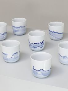 beautiful porcelain by Anna Badur from the serie BLUE SUNDAY