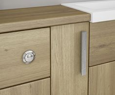 Odessa - These stunning routered chrome handles are simple and elegant. Perfect for a sophisticated bathroom.