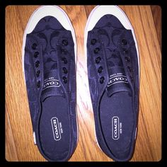 Coach no lace sneakers Coach sneakers never worn. Coach Shoes Sneakers