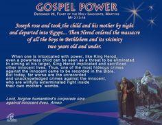 Gospel Power – Feast of the Holy Innocents