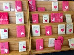 Valentine's Display for Library.  Blind date a book.