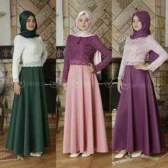 Wow love it and colours Hijab Dress, Hijab Outfit, Skirt Fashion, Hijab Fashion, Outfit Look, Hijab Chic, Mode Hijab, Bridal Lehenga, Coat Dress