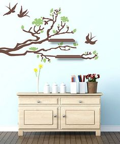 Take a look at this Olive & Walnut Eastern Branch Wall Decal Set by Sissy Little on #zulily today!