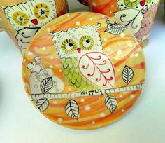 Cute owl everything in this etsy shop!