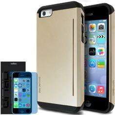 [Champagne Gold] Obliq iPhone 5C Case SkyLine Pro w/ HD Screen Protector - Premium Slim Fit Dual Layer Hard Case - Verizon, AT