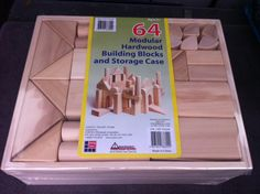 I recently learned that Costco started making its own wooden blocks that sell for only $27 per 64 blocks.   A comparable 60 piece set from Discount School supply sells for 42 dollars.   This is a picture of the Costco product. It's recommended that each classroom have at least 150-200 wooden blocks of various sizes to support complex block work(Chalufour & Worth, 2004).