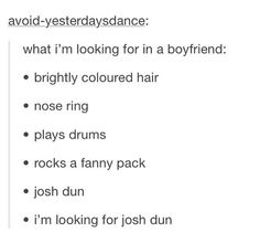 I'm looking for Josh Dun