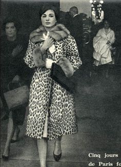 Farah Diba shopping in Paris, 1960's.