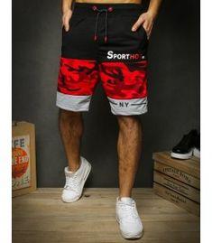 Krátke pánske červené teplákové nohavice Cargo Pants Men, Gym Men, Fashion, Moda, Fashion Styles, Fashion Illustrations