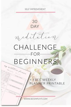 Looking for a meditation challenge for beginners that's easy to follow, honest about the challenges of meditation, plus a free meditation planner printable? Then this is the perfect meditation challenge for you!