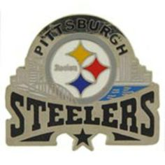 """NFL Pittsburgh Steelers Star Pin 1 1/4"""" by FindingKing. $11.99. This is a new NFL Pittsburgh Steelers Star Pin 1 1/4"""""""