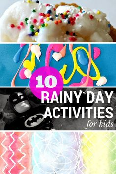10 rainy day activities for kids including crafts, recipes & games!