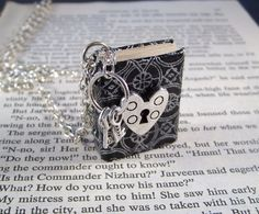 Miniature Book Necklace Under Lock and Key Heart by JanDaJewelry, $37.00