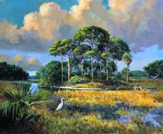 Eagle Marsh, painted by Karinluise Calasant