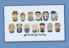 Mini People - Walking Dead cross stitch pattern by cloudsfactory on DeviantArt