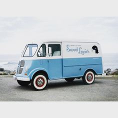 Still my favourite classic ice cream truck. The @ilovelucies metro step van from LA.  I met Mike (& the truck) back in March, along with his wife Geri they named their business after their first daughter Lucie. The baby blue, white with red trim livery simply works.  This is the truck that inspired me to find an old ice cream truck to restore. ~ Scott  _