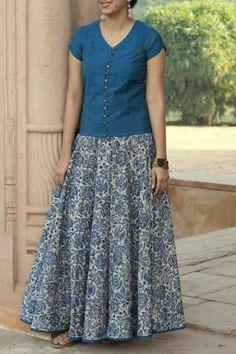 Kurti Neck Designs, Kurta Designs Women, Lehenga Designs, Blouse Designs, Kalamkari Dresses, Ikkat Dresses, Gowns For Girls, Frocks For Girls, Designer Blouse Patterns