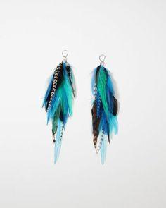 Feather earrings. So pretty!