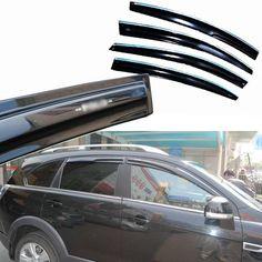 89.99$  Watch now - http://alinv6.worldwells.pw/go.php?t=32763261007 - 4pcs Windows Vent Visors Rain Guard Dark Sun Shield Deflectors For Chevrolet Captiva