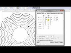 Create nested shapes in inkscape.