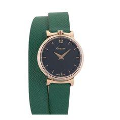 Green double strap watch with black dial for women #guillotwatches #maisonguillot #timetochange #timetohavefun #timetobeyourself #wristwatch #doublestrap #watchforwomen #greenwatch #blackdial #greenstrap #goldpinkcase #green#black #goldpink #swissmade #savoirfaire #luxury #interchangeable #modular #fashionaccessory #parisian #elegance #watchaddict #borninparis Double S, Or Rose, Parisian, Bracelets, Fashion Accessories, Watches, Luxury, Classic, Green